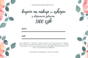 Dárkový voucher v hodnotě 1500 kč